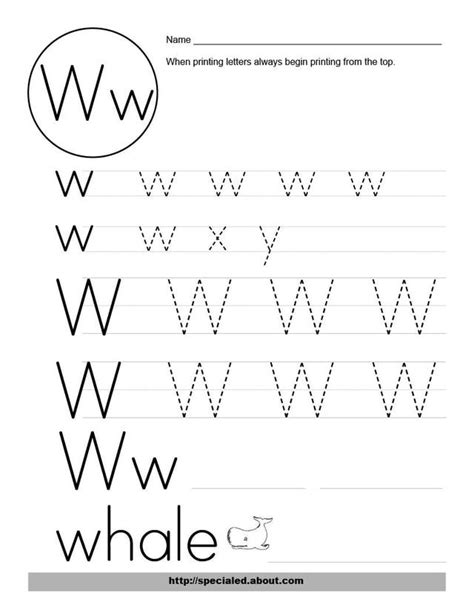 letter w activities 14 best images of w handwriting worksheets letter w