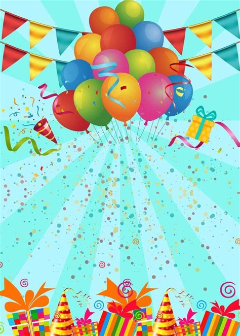 birthday party poster background template happy birthday