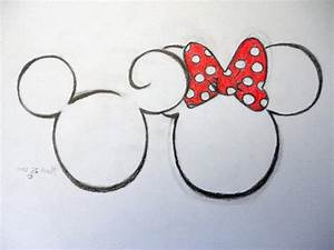 Easy Mickey Mouse Drawing How To Draw Minnie Mouse Cute ...