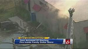 Intentionally set fire ignites at Family Dollar store