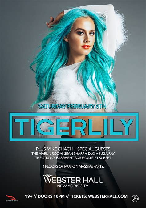 australias tigerlily takes  webster hall nyc  feb