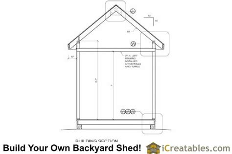8x16 shed floor plan 8x16 traditional backyard shed plans