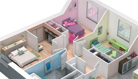 plan chambre 3d attrayant plan maison simple 3 chambres 9 plan maison