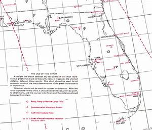 A Chart Of Magnetic Of Equal Variation Great Circle Outline Chart Of Florida 1941