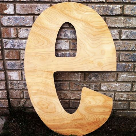 large wooden letters 50 typography related diy projects