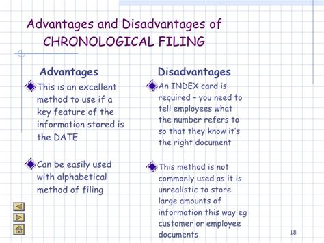 Chronological Resume Advantages And Disadvantages by Unit 3 Storage Retrieval Of Information