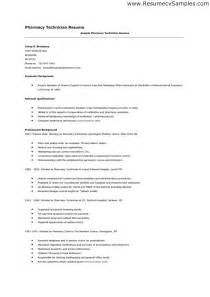 resume objective exles for pharmacy technician pharmacy technician resume sle writing guide resume template 2017
