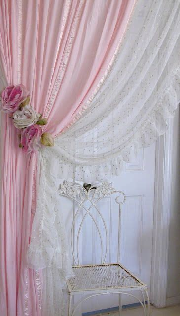 shabby chic curtain ties shabby chic curtains silk flowers and curtain tie backs on pinterest