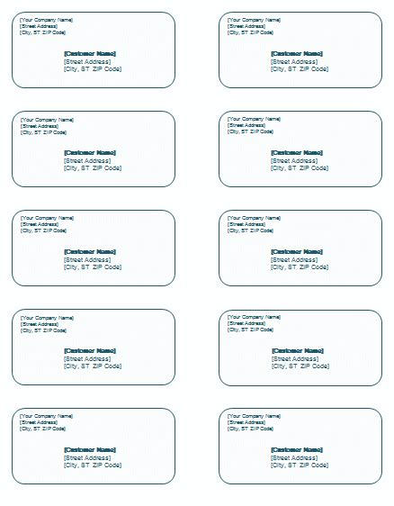 shipping label templates word  easy  edit