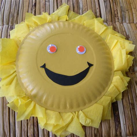 paper plate sun fun family crafts