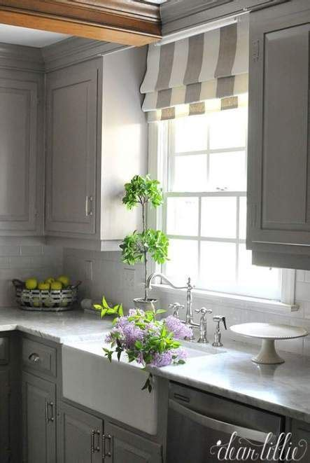 ideas kitchen window  sink roman shades curtains
