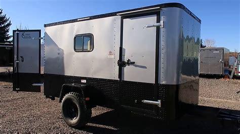 enclosed trailer r door conversion new 6x12 road cargo trailer 32 inch mudterrains