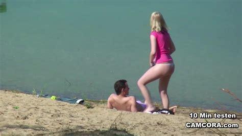Young German Teen Couple Voyeur In Sex On The Hamburg