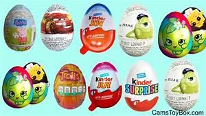 Chocolate Surprise Eggs Peppa Pig Kinder Joy Girls Boys ...
