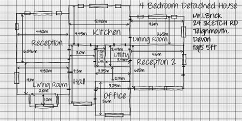 house graph paper pencil and in color house