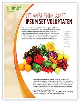 fruits  vegetables flyer template background