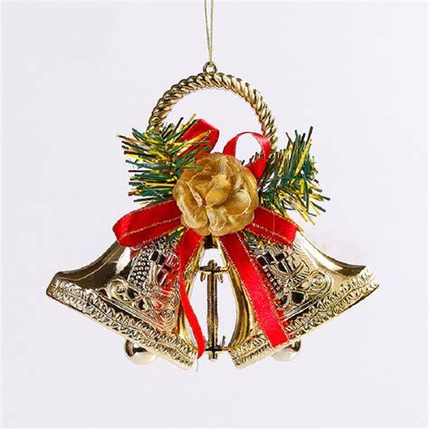 plastic christmas bells 15 cm christmas double bells