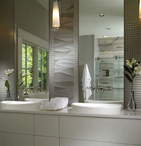 bathroom tile designs elise semi recessed sinks mirror size and the wavy tiles