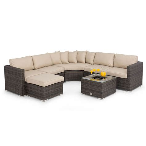 Maze Rattan Corner Sofa Set by Maze Rattan Barcelona Corner Sofa Set With Fla