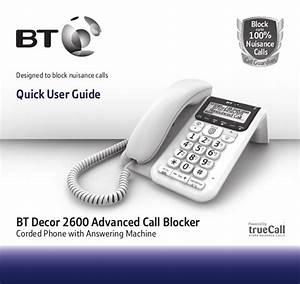 Bt Decor 2600 Telephone User Guide