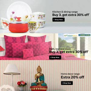 Home Furnishing, Decor, Kitchen & Dinning Buy 2 Get Extra