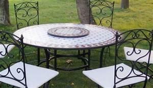 Table Fer Forgé Jardin : emejing table de jardin mosaique fer forge photos awesome interior home satellite ~ Teatrodelosmanantiales.com Idées de Décoration