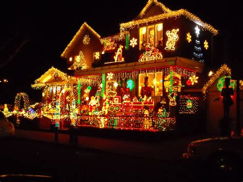 decorated houses lights card and decore