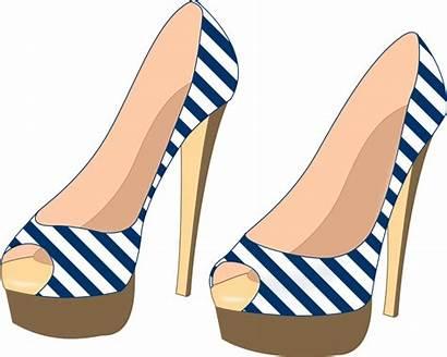 Heels Shoe Clipart Clip Shoes Svg Stilettos
