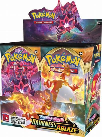 Box Pokemon Darkness Ablaze Booster Tcg Shield