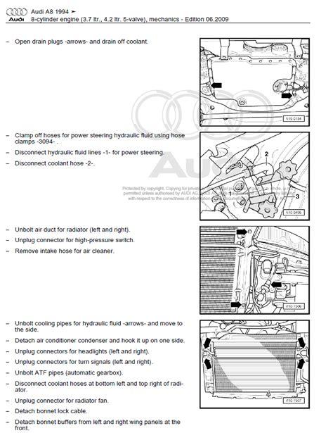 car repair manuals online free 2004 audi a8 electronic valve timing audi a8 1994 2002 repair manual factory manual