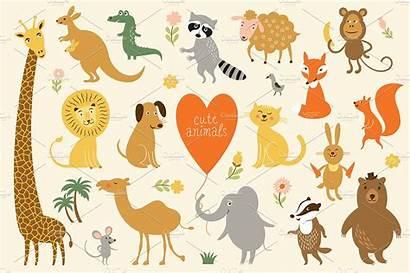 Animals Clipart Background Illustrations Creative Transparent Creativemarket