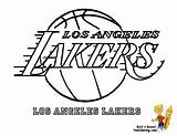 Lakers Coloring Pages Basketball Angeles Los Nba Team Clip Logos Printable Clipart Printables Sports Bounce Boys Template Cavaliers Cleveland Boy sketch template