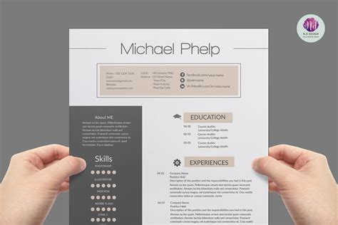 Creative Professional Resume Templates by Professional Resume Template Resume Templates Creative