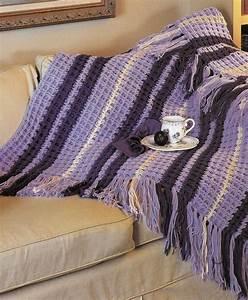 Quick  U0026 Cozy Stripe Afghan  Crochet Pattern Instructions