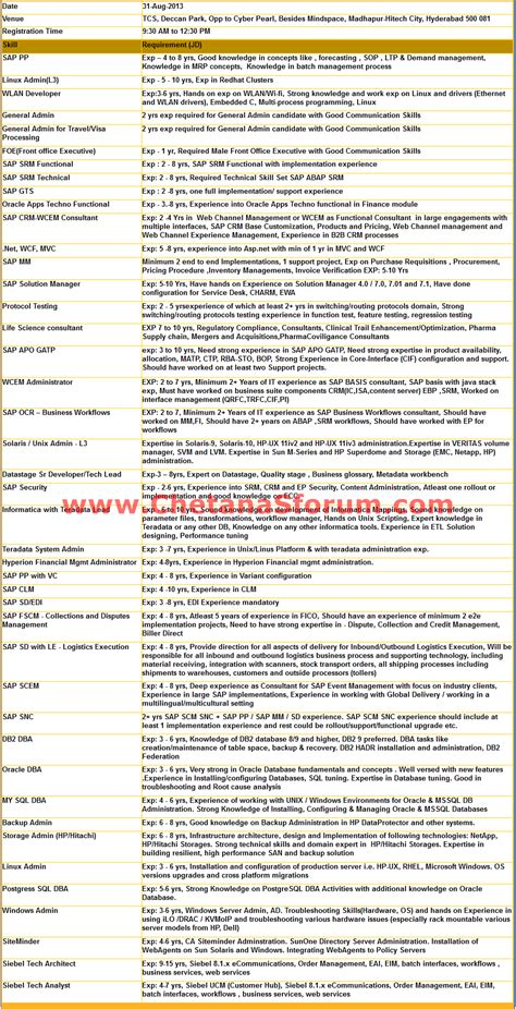 employment application form of tcs employment application