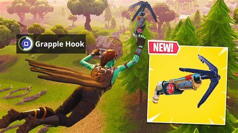 grappling hook gun  fortnite  fortnite update