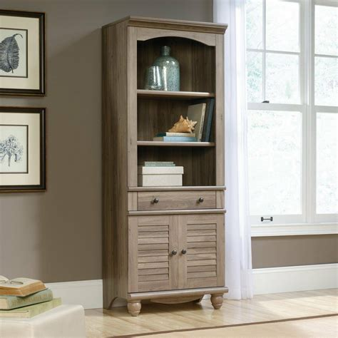 Bookcases With Doors by Sauder 419911 Harbor View Library Bookcase With Doors In