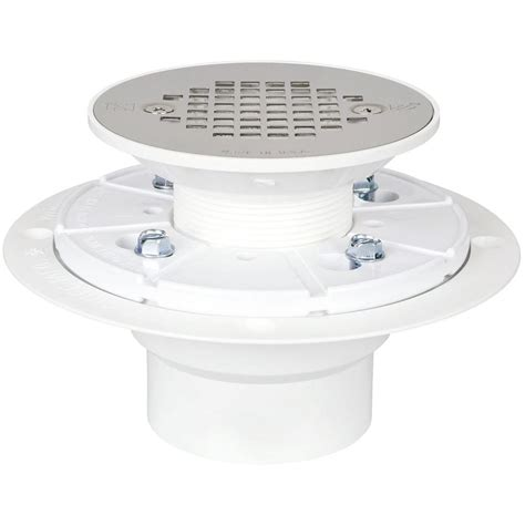 Shower Drain Home Depot by Sioux Chief 2 In Pvc Shower Drain With Strainer 821 2ppk