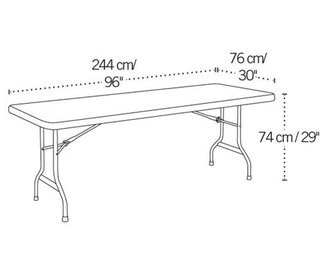standard folding table size fresh lifetime 22980 white 8 39 banquet table on sale with fast