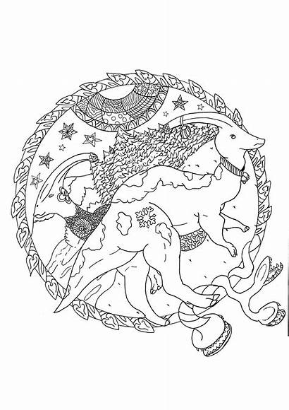 Dinosaurs Parasaurolophus Coloring Christmas Pages Adult Pretty