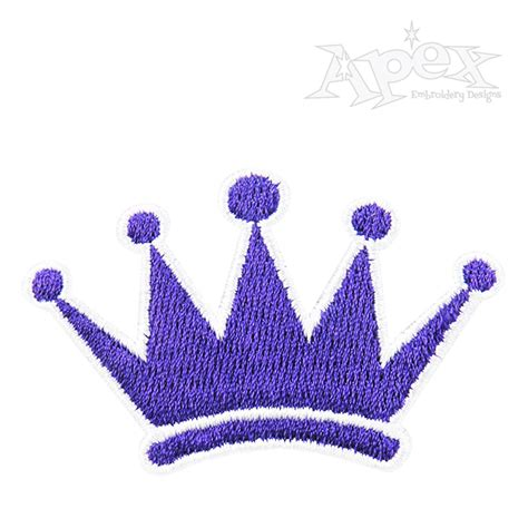 princess crown  embroidery design royal embroidery design