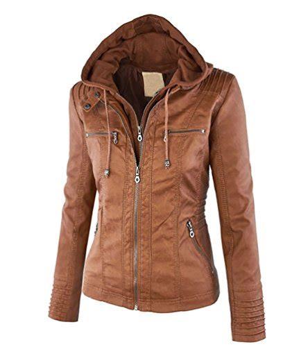 veste en simili cuir niseng veste en simili cuir femme manteau a capuche
