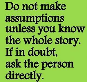 Making Assumptions About People Quotes. QuotesGram