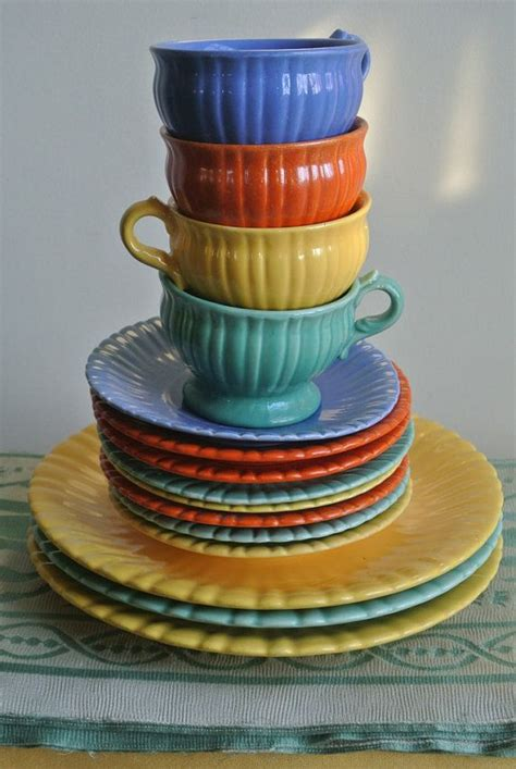 colorful dishes colorful dish set by stangl pottery deco nouveau