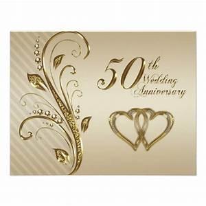 50th wedding anniversary invitation card 425quot x 55 With free online 50th wedding anniversary invitations