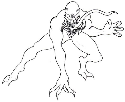 real venom coloring pages coloring pages