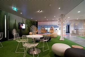 Modern office lounge design with nature inspired furniture for Office lounge design