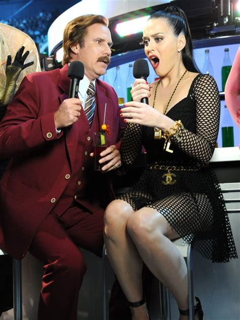 ron burgundy forcing katy perry    face