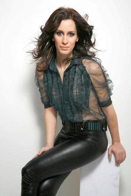 demcsak zsuzsa  elite magazine fashion leather pants