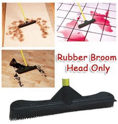12 inches Rubber Broom Head Only. Wet or Dry   Works